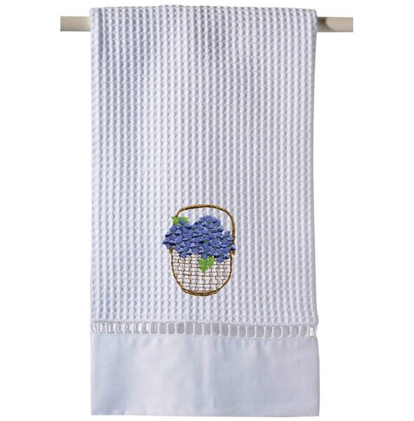 Blue Waffle Weave Guest 100% Cotton Hand Towel by August Grove